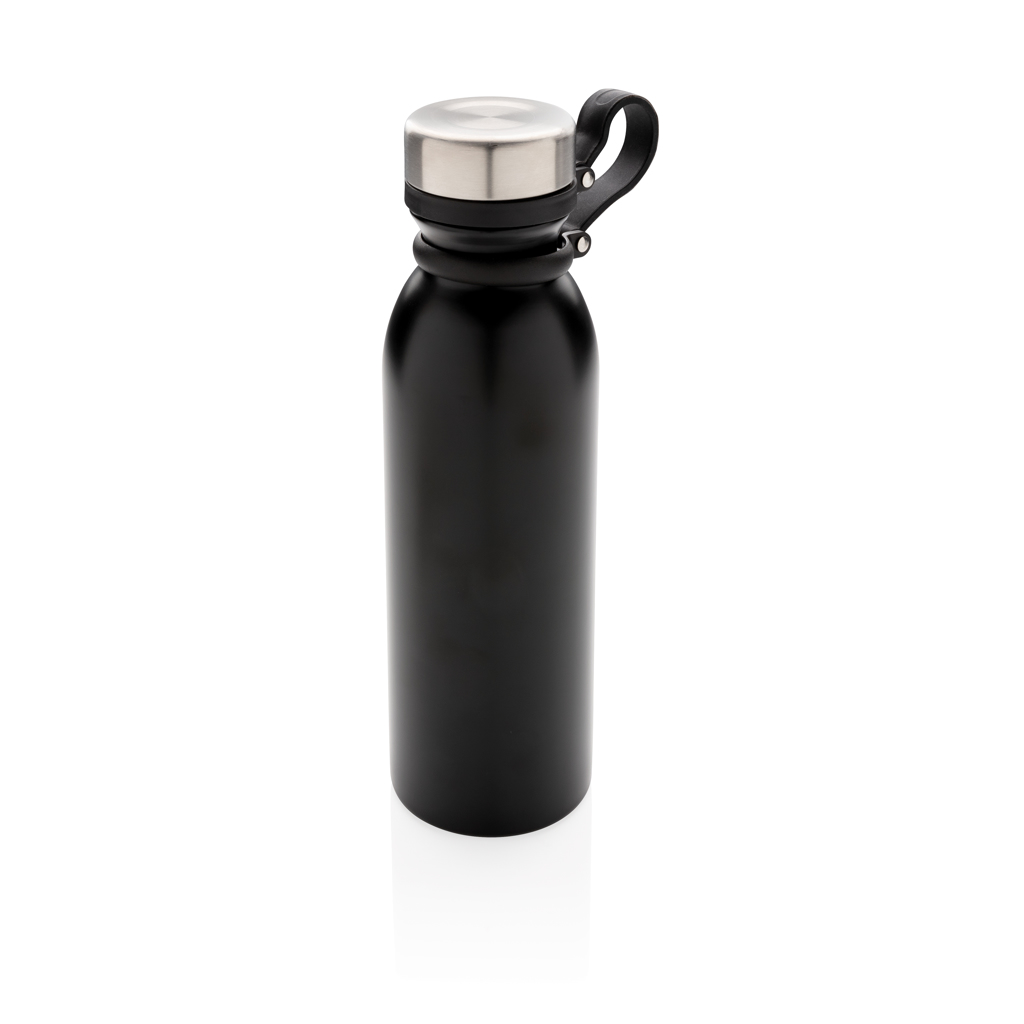 Copper vacuum insulated bottle with carry loop