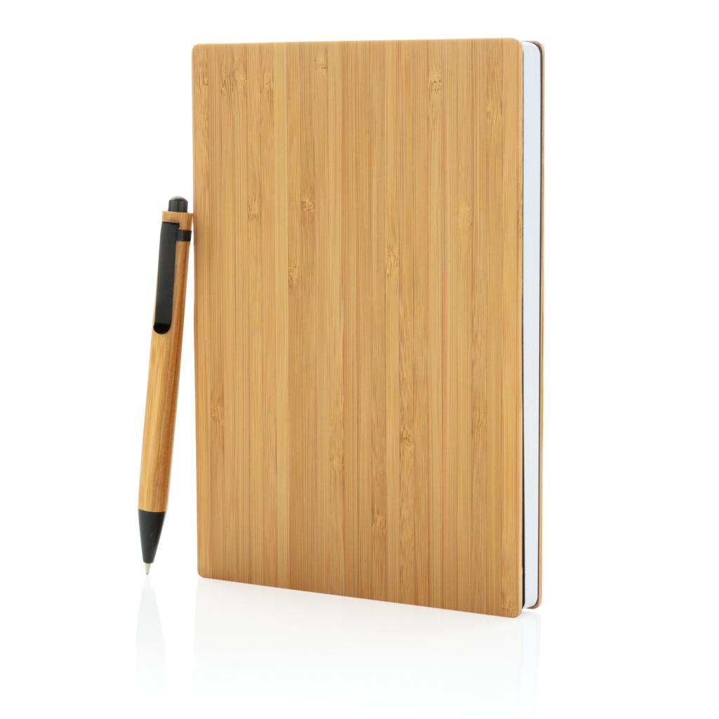 Set penna e taccuino A5 in bambù