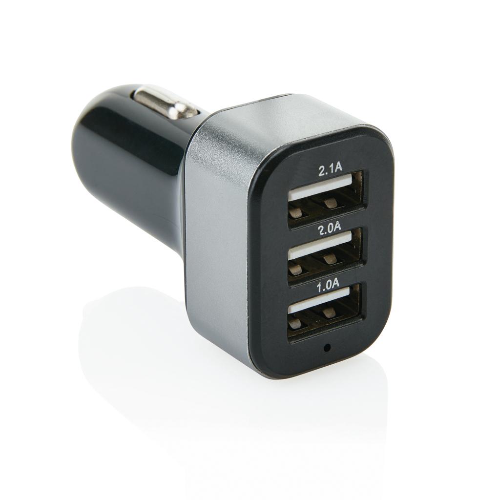 Billede af 3,1 A biloplader med 3 USB-porte