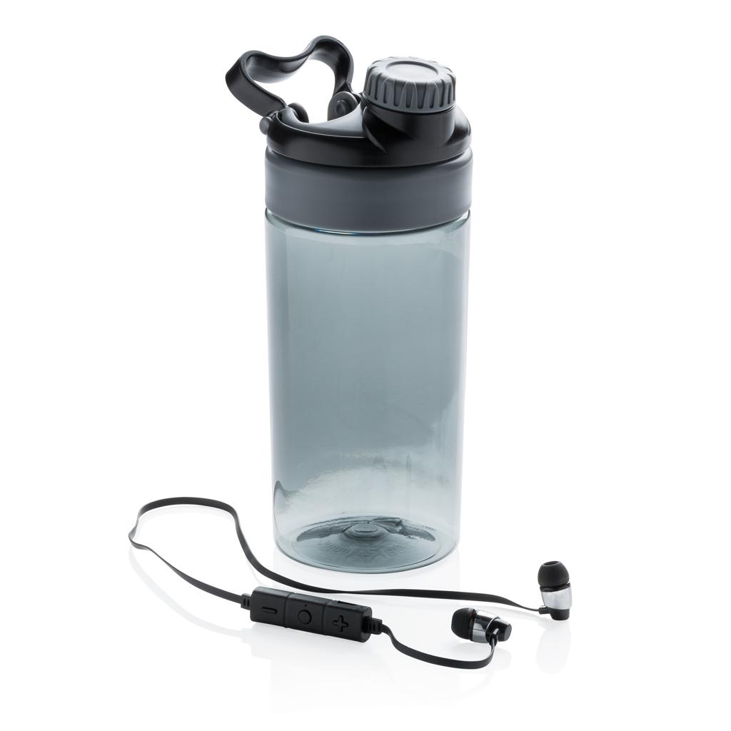 Bottiglia antigoccia con auricolari wireless