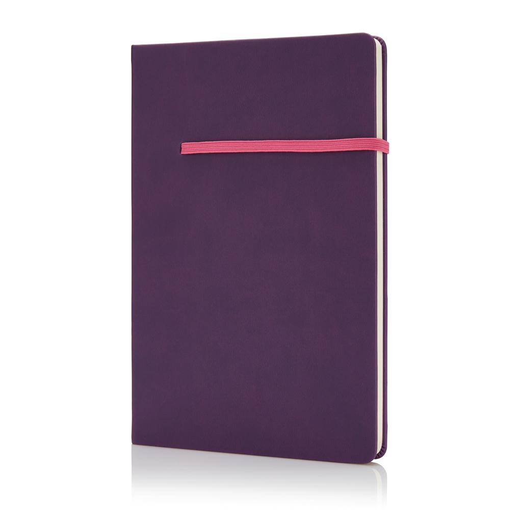 Billede af A5-notesbog med vandret bånd