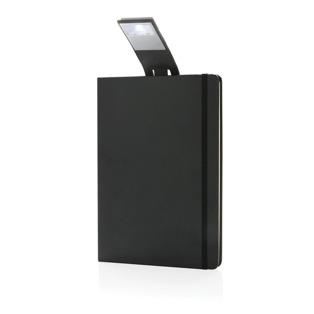 Billede af A5 notesbog med LED bogmærke